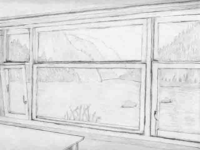A drawing where the reference was taken from two sources and then I blended them and drew it.  sc 1 st  Woodard3D.com & WindowDRAWING.jpg